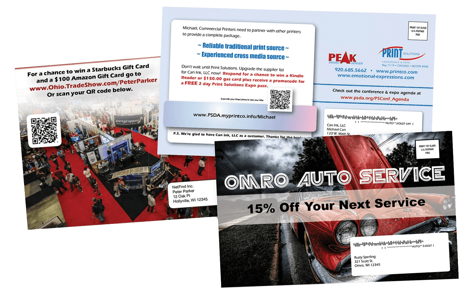 Variable Print Direct Mail Postcards