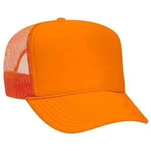 OTTO Neon Polyester Foam Front 5 Panel High Crown Mesh Back Trucker Hat
